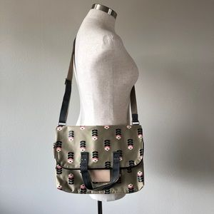 ETC Orla Kiely Buttercup Stem Fold Over Tote Bag